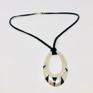 TAXCO Sterling silver, onyx pendant, 12.5g